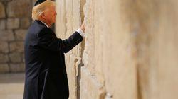 Trump, primer presidente de Estados Unidos en ejercicio en el Muro de las