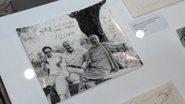 Picasso y Miró, durante un encuentro en