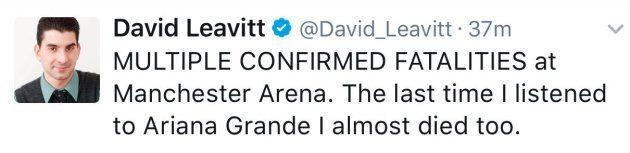 La broma de muy mal gusto de un periodista sobre Ariana