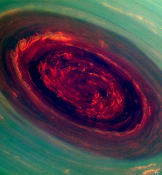 Huracán gigante en Saturno: la foto de Cassini