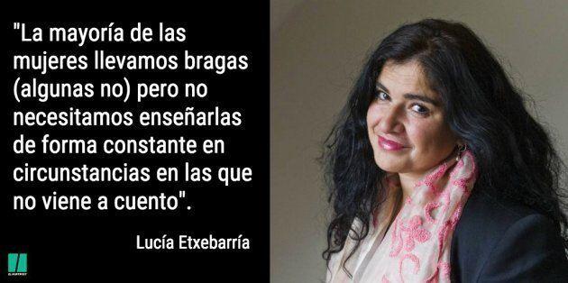 La respuesta de Lucía Etxebarría a la polémica campaña de