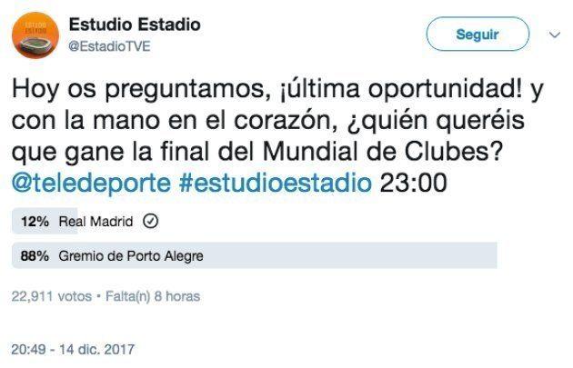 Troleo épico a Estudio Estadio con esta encuesta sobre el Madrid en