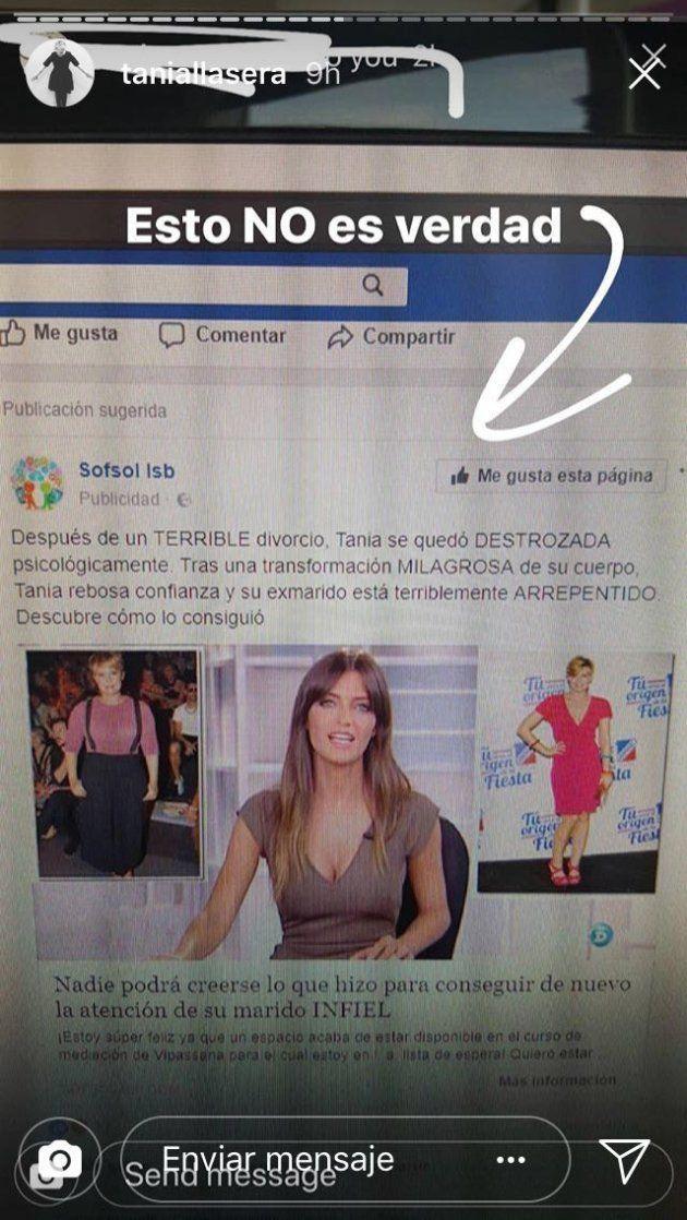 Tania Llasera estalla contra un titular sobre su vida privada: