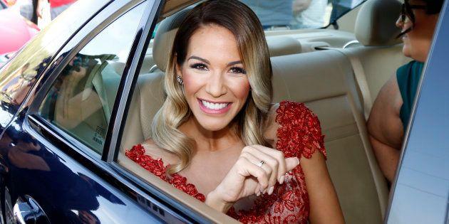 Tamara Gorro durante la boda de Francisco Rivera Pantoja e Irene Rosales en
