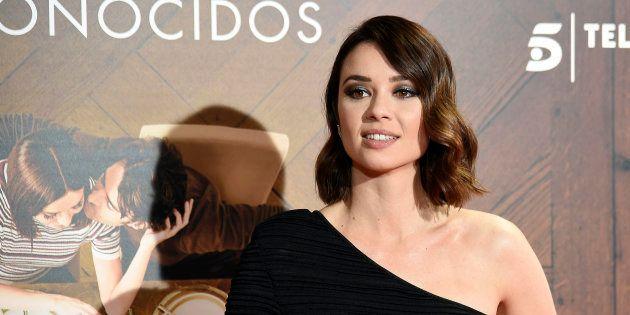 La actriz Dafne Fernández durante el estreno de 'Perfectos