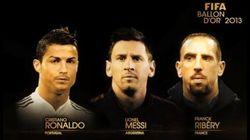 Cristiano, Messi y Ribery, nominados al Balón de Oro