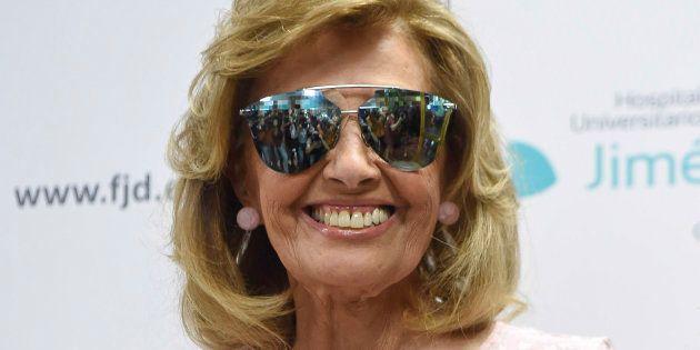 Maria Teresa Campos, saliendo de el hospital en Madrid este