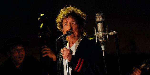 Bob Dylan actúa en el programa de David Letterman el 19 de mayo de