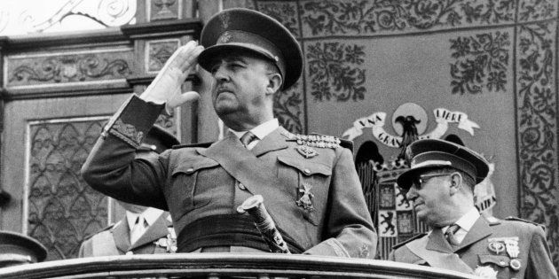 El dictador Francisco Franco, en una imagen tomada en la década de los