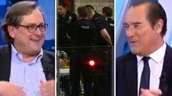 La surrealista 'disculpa' del presentador de 'El Cascabel' de 13TV tras su reacción ante el atentado de