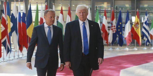 Trump se reúne con los líderes de la OTAN y la UE en el