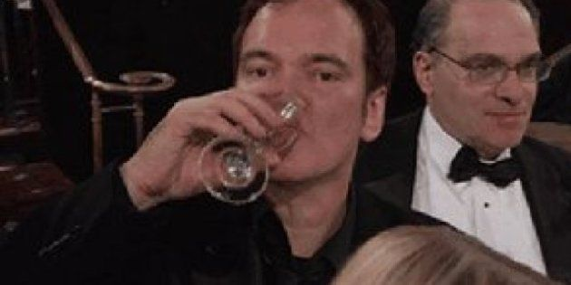 Globos de Oro en gifs animados: Tarantino escupiendo del susto, Adele chocando mano con Daniel Craig...
