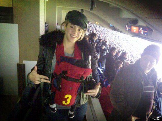 Milan Piqué va al Nou Camp por primera vez, Shakira sube la foto a Twitter y el Barça