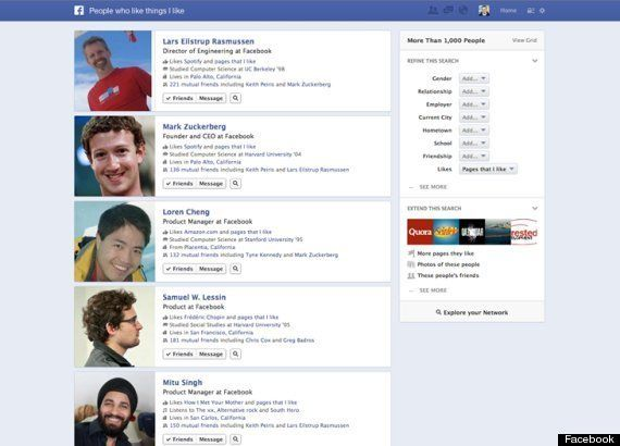 Graph Search: Facebook lanza su buscador