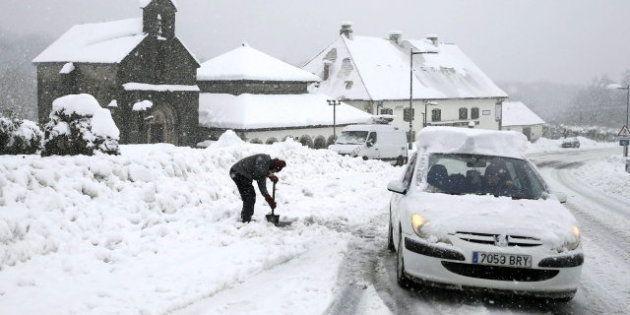 La nieve teñirá de blanco media España a partir de este martes