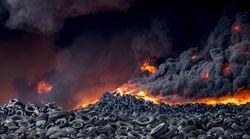 Detenido un empresario como presunto autor del incendio de neumáticos de Seseña