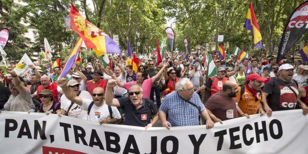 Marchas de la Dignidad: miles de personas se manifiestan contra la precariedad y la