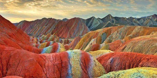 Parque Geológico Zhangye Danxia: montañas de colores en China