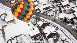 9 fotos espectaculares de globos aerostáticos en los Alpes