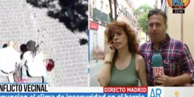 Atacan a pedradas a un reportero de Ana Rosa en pleno