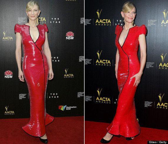 Cate Blanchett: vestido rojo deslumbrante en los Premios australianos de Cine y Televisión