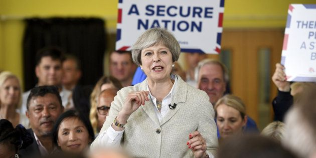 Britain's Prime Minister Theresa May attnds a campaign event in Twickenham, London, May 29, 2017. REUTERS/Leon