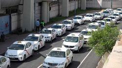 Los taxistas de toda España protestan en Madrid contra la
