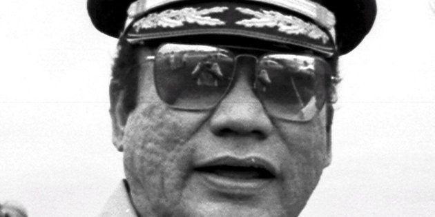 Foto de archivo del exdictador Manuel Antonio Noriega tomada en Ciudad de Panamá en