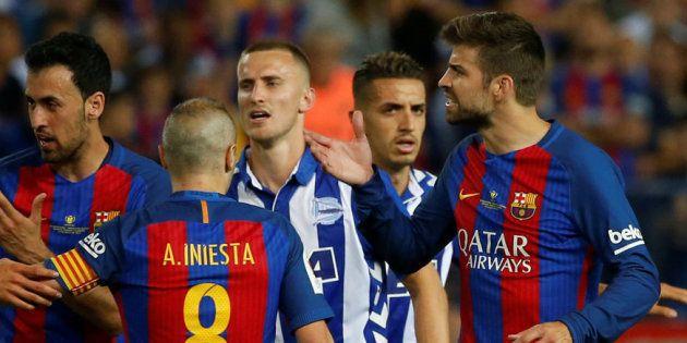 Iniesta critica los insultos de los jugadores del Real Madrid a Piqué: