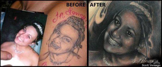 Cuando arreglar un mal tatuaje es posible