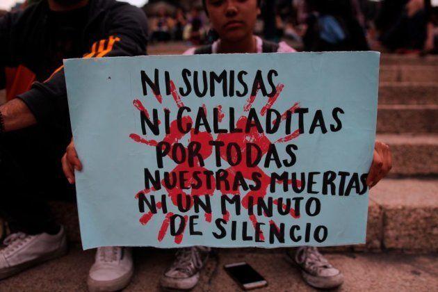 Protestas en Ciudad de México contra los feminicidios y la violencia contra las