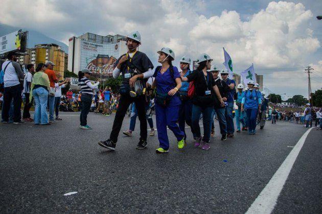 Marcha por las calles de