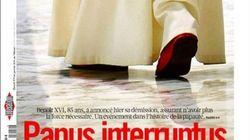 La dimisión del papa, en los periódicos