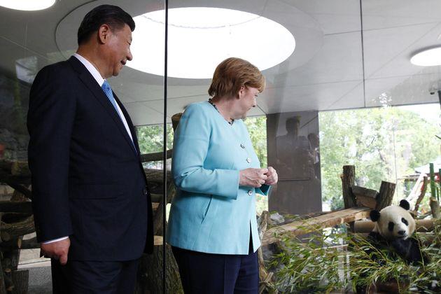 Angela Merkel y el presidente chino Xi Jinping inauguran el 5 de julio el nuevo emplazamiento de los...