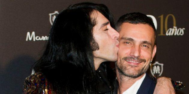 Mario Vaquerizo y David Delfín en un acto en el Ritz en marzo de