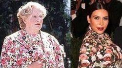 La Señora Doubtfire se ríe del vestido de Kim Kardashian (TUIT,