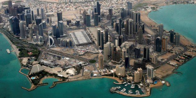 Vista aérea del complejo diplomático de Doha