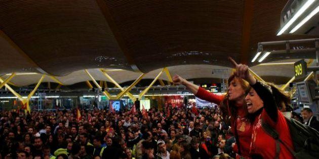 Otros 230 vuelos de Iberia cancelados en una huelga con un 70% de