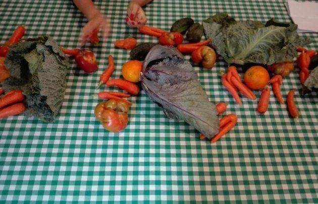 Productos que no llegan a los mercados y que se usaron en el taller de GastroRecup organizado por Ecoembes...
