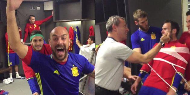 La selección española se suma al 'mannequin challenge' en