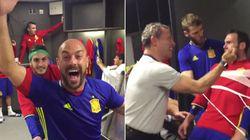 El loco 'mannequin challenge' de la selección española en el vestuario de