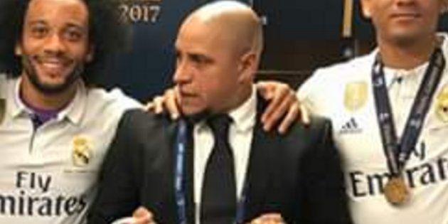 La imagen de Roberto Carlos 'matando' con la mirada a Modric que ya es