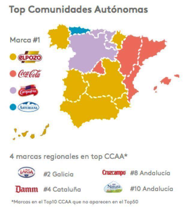 Las marcas más vendidas en cada comunidad