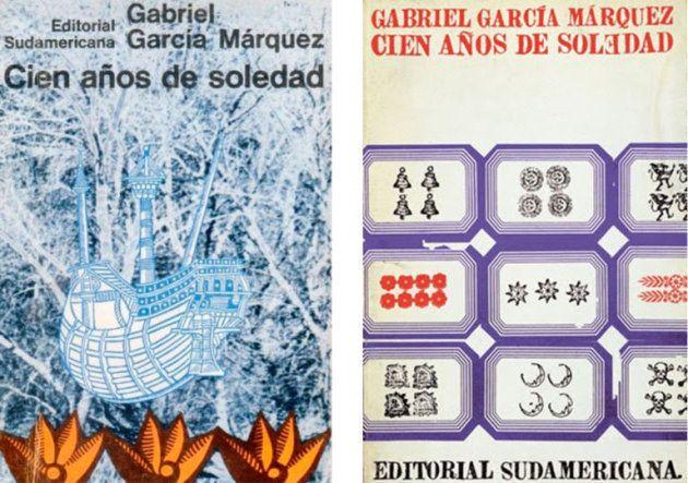 Portadas de'Cien años de soledad':a laizquierda, original de Iris Pagano, y la encargada a Vicente