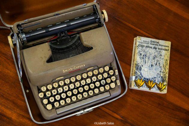 Máquina de escribir donde García Márquez escribió 'Cien años de soledad. Cortesía de Biblioteca Nacional...
