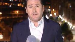 La loca imagen en Twitter de los momentos previos a entrar en directo del corresponsal de TVE en Oriente