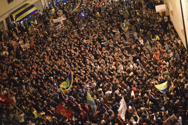 Miles de manifestantes, congregados en Alhucemas el pasado 1 de