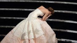 Jennifer Lawrence revela casi un año después por qué se cayó en los