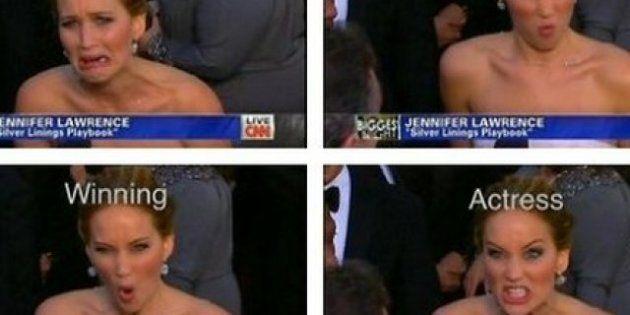 Jennifer Lawrence, Oscar 2013: la noche de la mejor actriz, en gifs