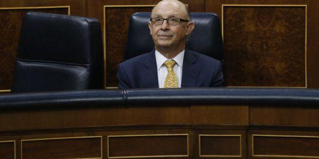 Cristóbal Montoro, durante la pasada aprobación del Dictamen de los Presupuestos Generales del